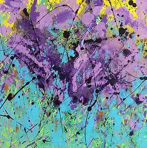 art#painting#flora#aquilegia#purple#blue
