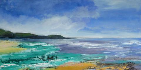 Sea#scotland#highlands#Mull#purple#green