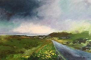 art#landscape#painting#Scotland#Scottish Highlands# Island#storm