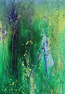 Art#painting#flora#trees#green#forest