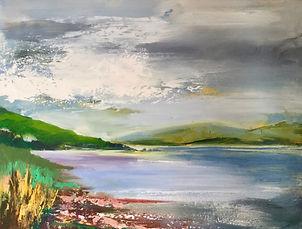 art#landscape#painting#scotland#loch fleet#dornoch