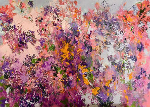 Floral#pink#purple#abstract