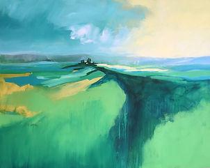 painting#art#landscape#italy#green#monferrato#asti#hilltop