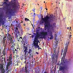 painting#art#floral#iris#purple#yellow#diptych