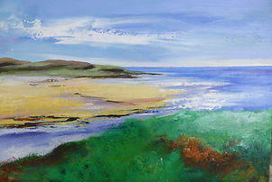 art#painting#beach#scotland#Lewis#Uig#sea