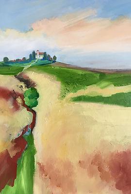 painting#art#italy#landscape#piemonte#capella#pieve
