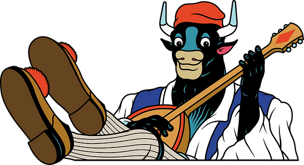 Le taureau musicien : symbole des chips de Madrid de Superbon
