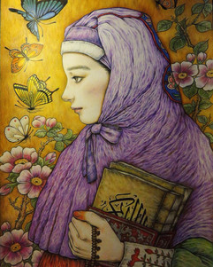 꾸란을 든 소녀 A girl holding Qur'an