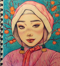 감나무 Persimmon