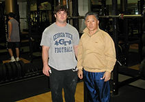 Josh trained with Coach Kang.  Coach Kang was the National Olympic weightlifting coach for South Korea for several years.  Coach Kang was an Asian Olympic weightlifting champion.