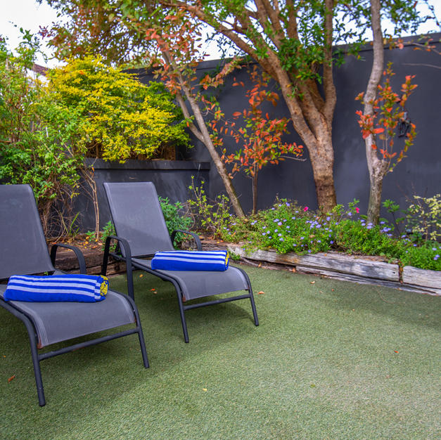 Sa Suite Sun Loungers in Private Garden