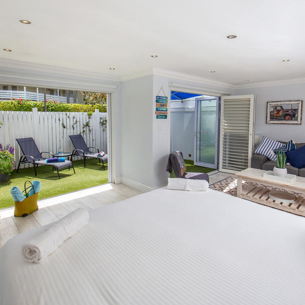 Extra Length King Size Bed Looking onto Private Garden