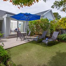 Overcast View of Sam Suite Private Garden