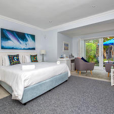 Sam Suite View onto Private Deck & Garden