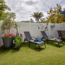 Sun Loungers in The Private Garden