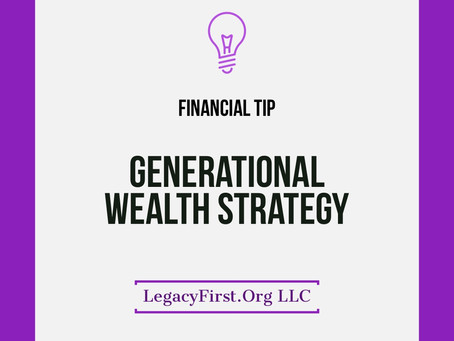 Every generational wealth strategy should contain life insurance here's why!