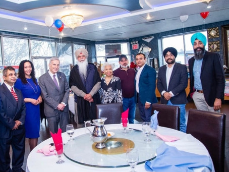 Cassandra Johnson with Sikh community leaders