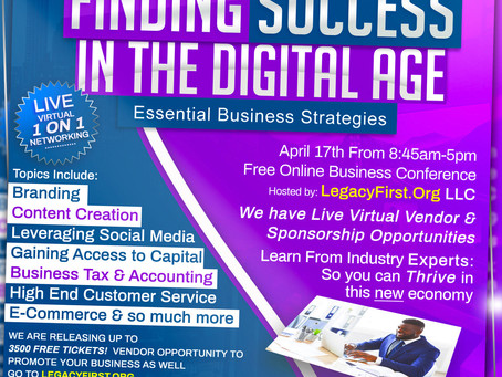 """Our Free Online Business Conference """"Finding Success in the Digital Age is Almost Here! Sat April 17"""