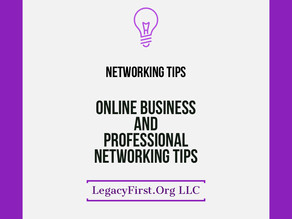 4 Online Business & Professional Networking Tips