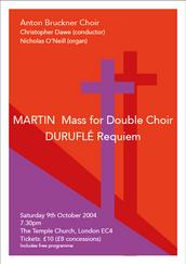 Martin Mass & Duruflé Requiem