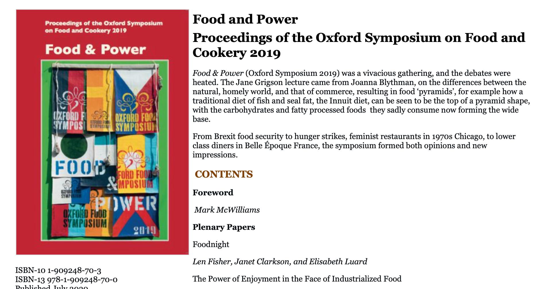 Oxford Symposium book