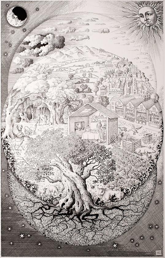 Allegory of Sitopia by Miriam Escofet