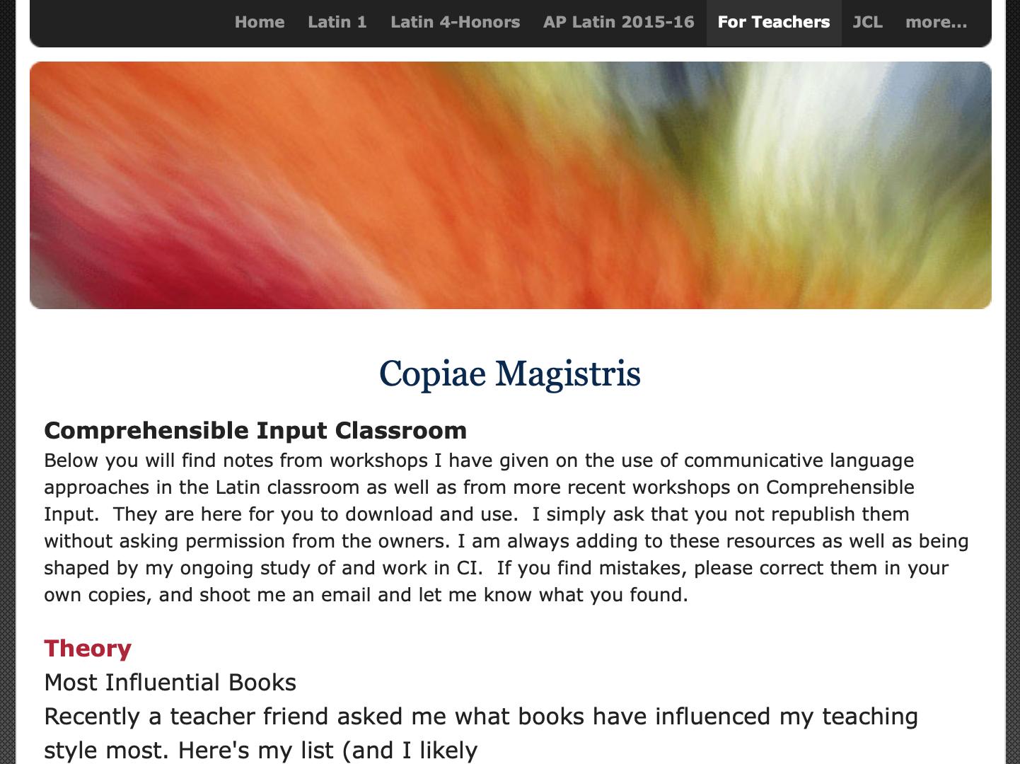 Dr Patrick's Latin Webpages