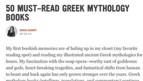 50 must-read Greek mythology books