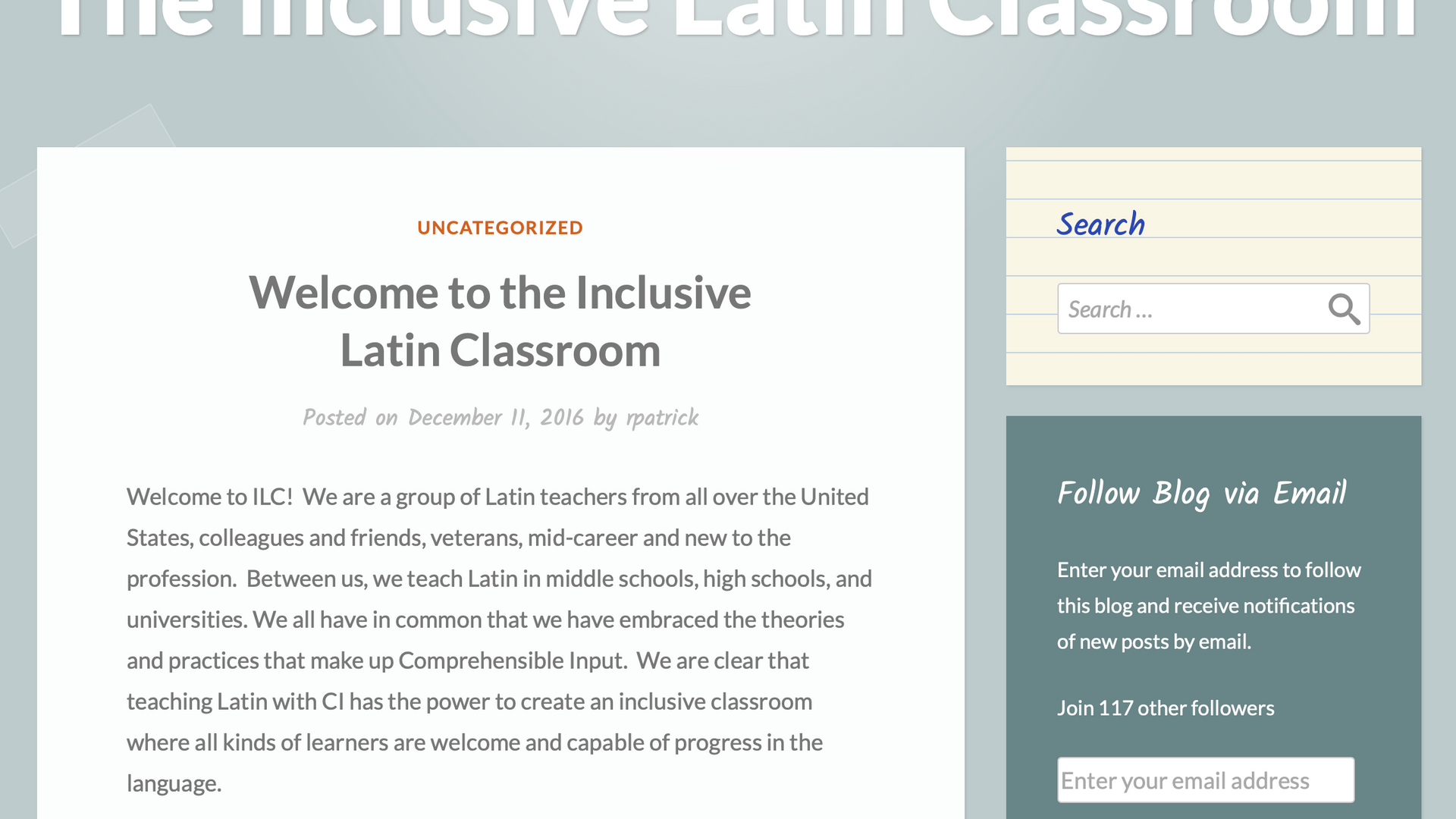 The Inclusive Latin Classroom