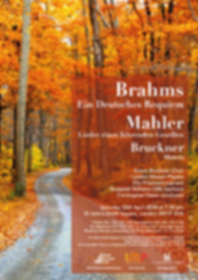 Anton Bruckner Choir April 2018 concert flyer