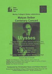 Matyas Seiber Centenary Concert: Ulysses