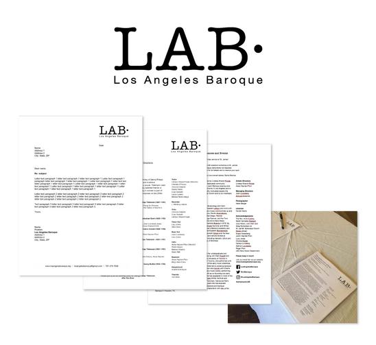 LAB branding print