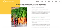 Interview and debate 'Food Talks - how food can save the world'