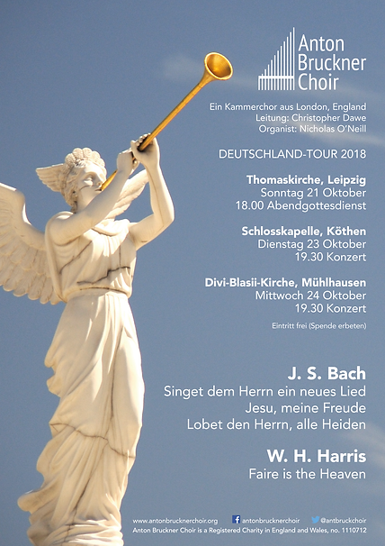 Anton Bruckner Choir Leipzig tour 2018 flyer