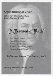 A Festival of Bach
