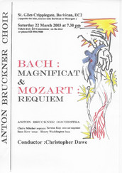 Bach Magnificat & Mozart Requiem