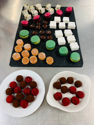 petit fours, nougat, macaroons, sweet things