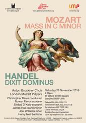 Mozart Mass in C minor & Handel Dixit Dominus