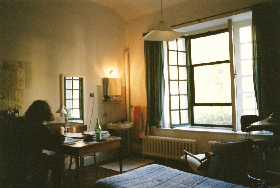 My studio in Rome, 1995