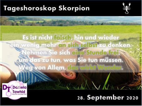 Tageshoroskop 28.09.2020 - Skorpion