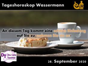 Tageshoroskop 28.09.2020 - Wassermann