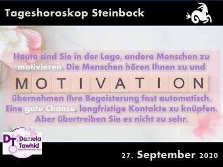 Tageshoroskop Steinbock 27.09.2020