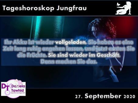 Tageshoroskop Jungfrau 27.09.2020