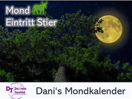 Mond Eintritt Stier am 10.08.2020 (03:28 Uhr)