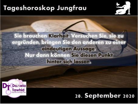 Tageshoroskop 28.09.2020 - Jungfrau