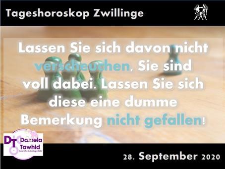 Tageshoroskop 28.09.2020 - Zwillinge