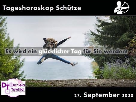 Tageshoroskop Schütze 27.09.2020