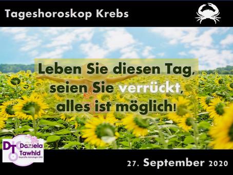 Tageshoroskop Krebs 27.09.2020
