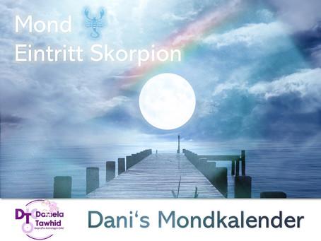 Mond Eintritt Skorpion am 23.08.2020 (12:16 Uhr)