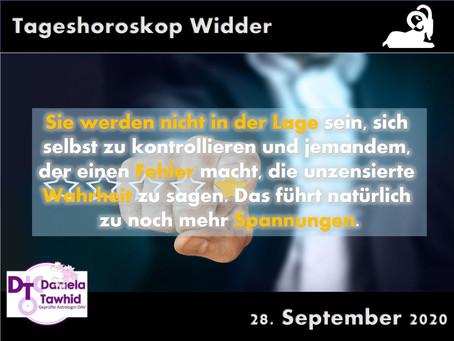 Tageshoroskop 28.09.2020 - Widder